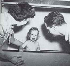 Skinner's daughter Deborah in the 'Aircrib' 1944